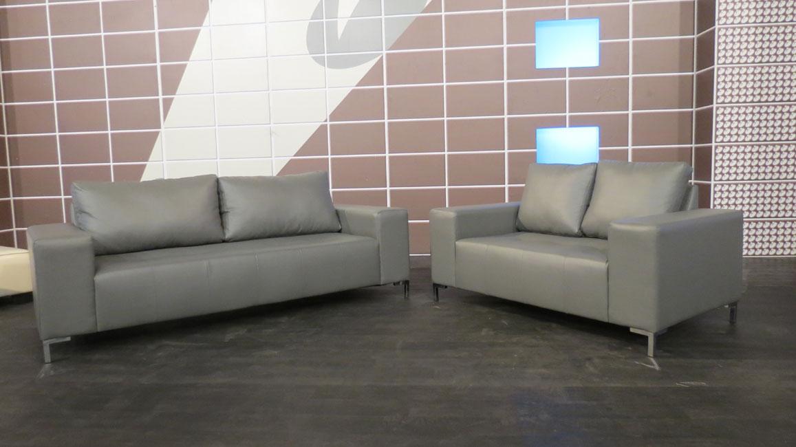 מערכת ישיבה מדמוי עור איכותי תלת + דו דגם אולסטאר