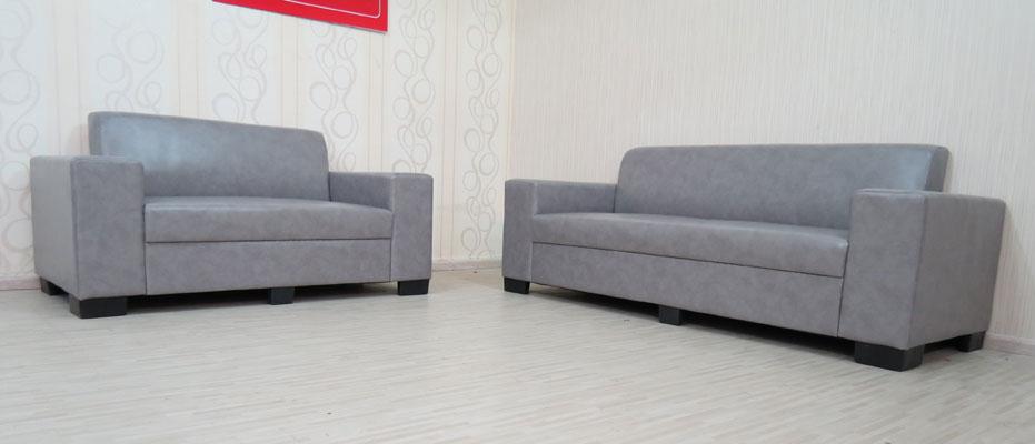 מערכת ישיבה דו + תלת מדמוי עור דגם יולי
