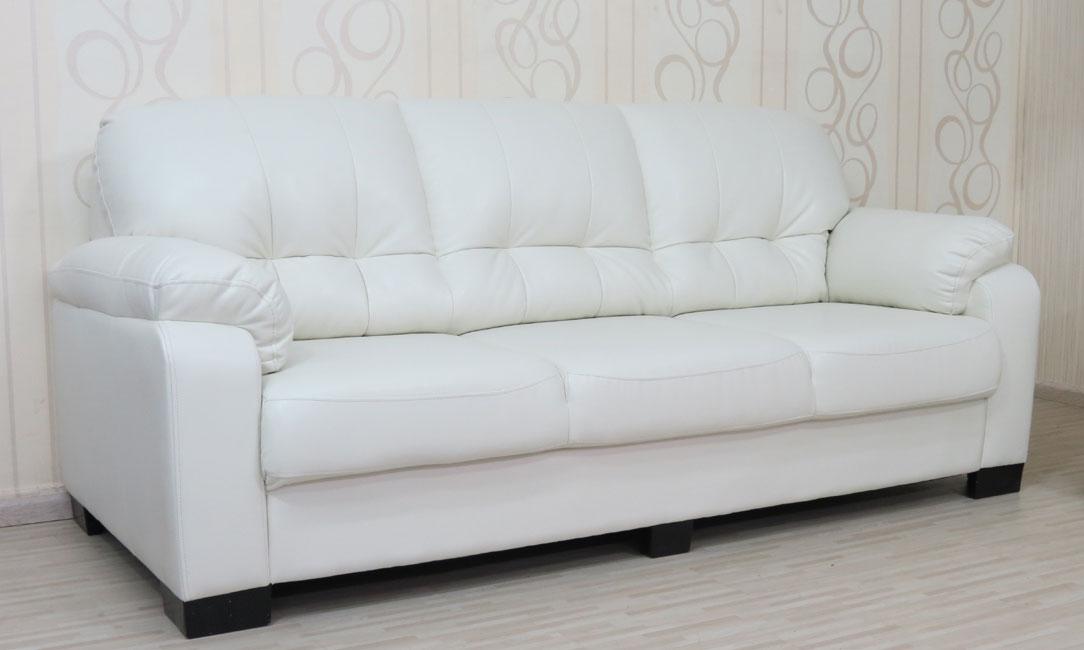 ספה תלת מושבית מפנקת במיוחד מדמוי עור טופ לדר דגם פולי
