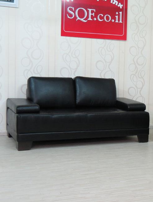מערכת ישיבה גדולת מימדים מדמוי עור תלת + דו דגם בוסתן