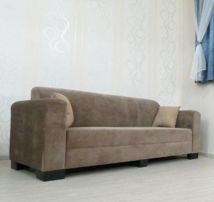 ספה תלת מושבית מבד קטיפתי מרהיב דגם אליזבת