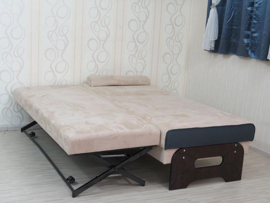 """ספת נוער רוחב 90 ס""""מ עם קפיצים מבודדים נפתחת למיטה כפולה ע""""י מנגנון אפ קל עם ראש מתכוונן דגם סביון"""