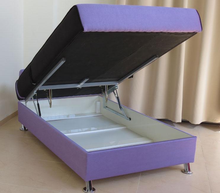 ספת נוער טרנדית וסופר אורטופדית ברוחב מיטה וחצי מרופדת בבד מטריקס עם מנגנון הרמה ידני דגם מטאור