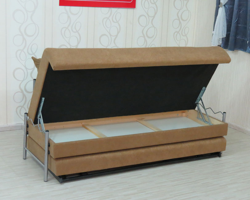 """ספת נוער אשר נפתחת למיטה כפולה ע""""י מנגנון אפ קל דגם פומה"""