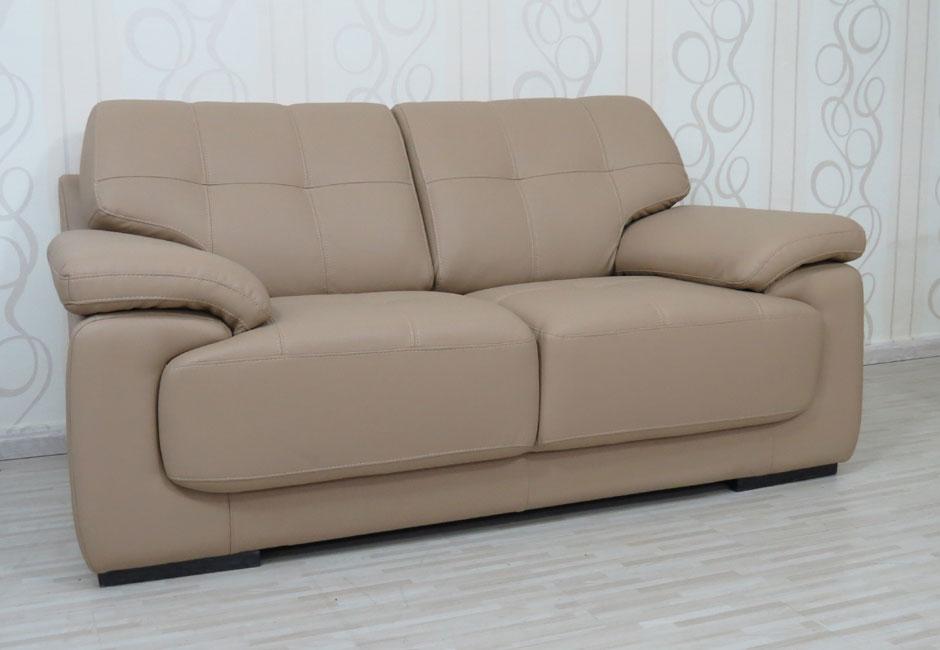 מערכת ישיבה גדולת מימדים מדמוי עור תלת + דו דגם לוטוס