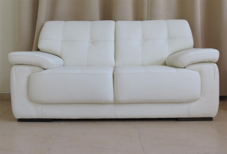 מערכת ישיבה מדמוי עור איכותי טופ לדר וקפיצים מבודדים במושבים תלת + דו דגם אנבל