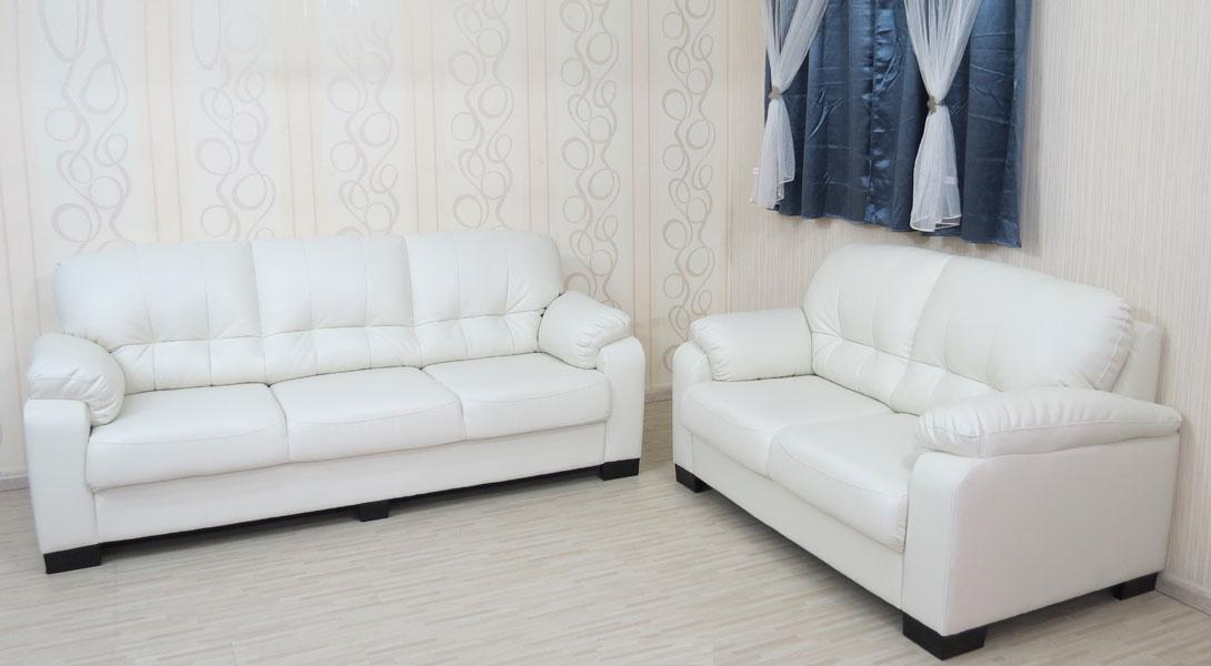 מערכת ישיבה מפנקת במיוחד מדמוי עור טופ לדר תלת + דו דגם פולי