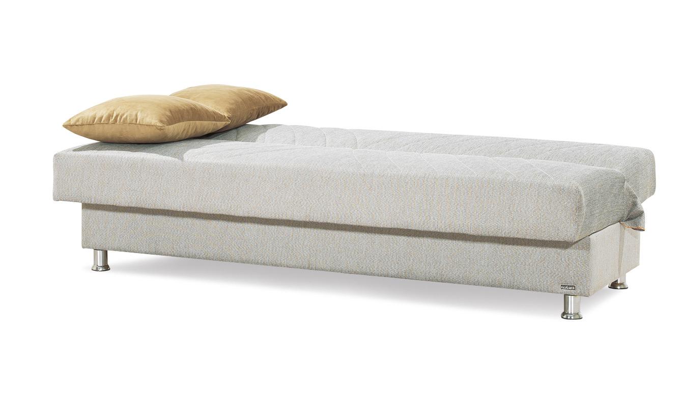 ספת ספר לאירוח ולשינה מרופדת בד איכותי כוללת ארגז מצעים וזוג כריות דגם קמילה