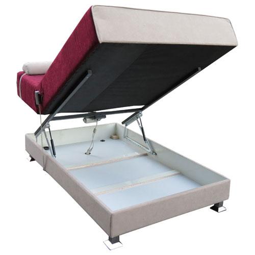ספת נוער טרנדית ברוחב מיטה וחצי עם מזרן קפיצים סופר אורטופדי ומנגנון הרמה ידני דגם עינב